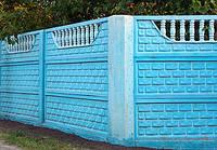 Секция бетонного забора (верхушка)  «кирпич с бортиком»