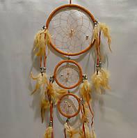 Ловец снов 3 кольца - защита от плохих снов (коричневый)