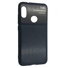 Чехол-накладка DK-Case силикон стекло Totu Arte Geometry для Huawei P Smart Plus (dark blue)