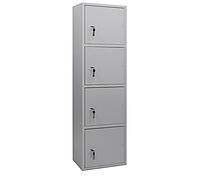 ШБС-16/4 шкаф архивный канцелярский, шкаф металлический для документов Н1650*460*340 мм