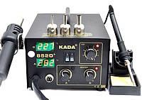 Паяльная станция KADA 852D+, термофен, жала разных размеров, регуляторы температуры/воздушного потока