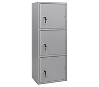 ШБС-12/3 шкаф архивный канцелярский, шкаф металлический для документов Н1240*460*340 мм