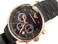 Мужские кварцевые наручные часы Emporio Armani на каучуковом ремешке