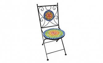 Стул Георгина металлически с керамикой для дачи, террасы, сада купить