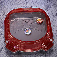 Бейблейд красная арена с волчками Волтраек и Ахиллес, пусковым и дорожками BEYBLADE Burst Turbo Slingshock, фото 1