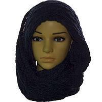 Однотонный вязаный шарф-снуд, фото 1