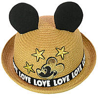 Шляпа детская с ушками Love Микки Маус, фото 1