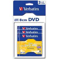 Диск DVD Verbatim mini 1.4Gb 4X Blister 3шт (43594)