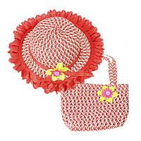 Красивый набор: детская сумка и шляпка, фото 1