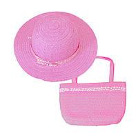 Красивый детский набор шляпа+сумка, фото 1