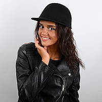 Шляпа «жокейка» фетровая с высокой тульей и длинным козырьком, фото 1