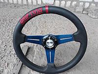 Руль Momo №593В из натуральной кожи с переходником на ВАЗ 2109., фото 1