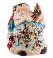 """Фарфоровый подсвечник """"Дед Мороз"""" (Pavone) BS-501"""
