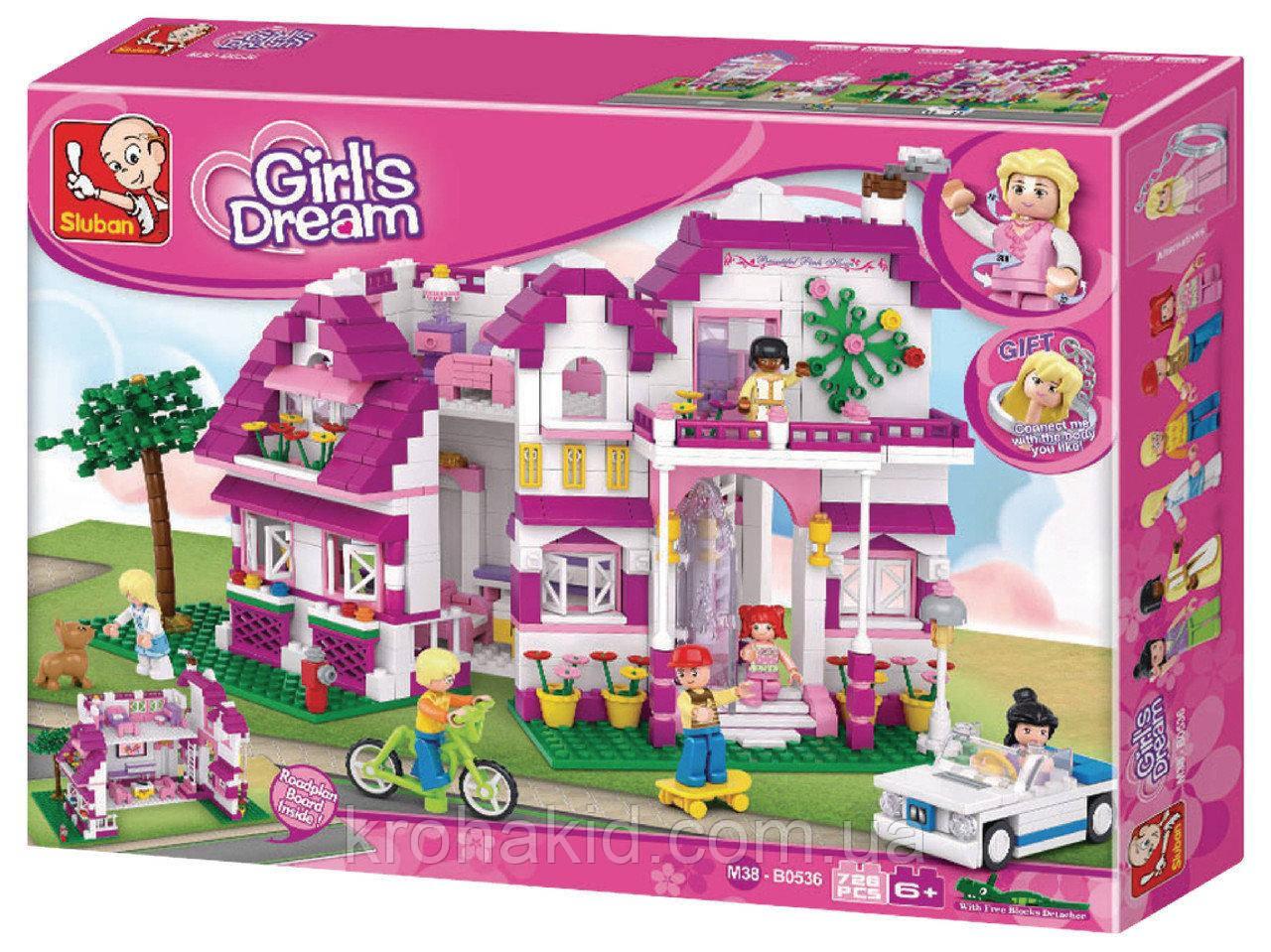 """Конструктор Sluban М38-В0536 """"Большой Дом"""" серия Girls Dream.  (Аналог Lego Friends) 726 деталей"""