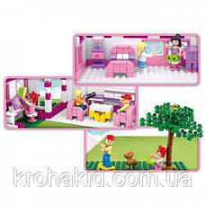 """Конструктор Sluban М38-В0536 """"Большой Дом"""" серия Girls Dream.  (Аналог Lego Friends) 726 деталей, фото 3"""