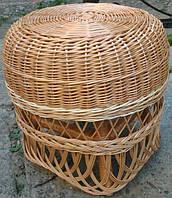 Табурет плетеный из лозы