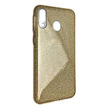 Чехол-накладка DK-Case силикон райский дождик пластик вставка для Samsung A40 (gold)