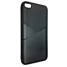 Чехол-накладка DK-Case силикон кожа Karmann для Xiaomi Redmi Go (black)