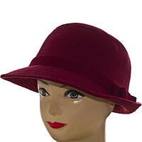 Стильний капелюшок з фетру класичної форми зі злегка загнутим ззаду полем, фото 1