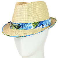 Летняя молодежная шляпа из натуральной соломы Челентанка, фото 1