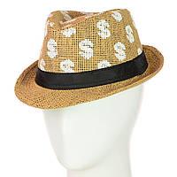 Соломенная Шляпа Челентанка детская Доллар, фото 1