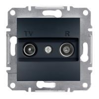 TV-SAT Розетка проходная. (8dB) ASFORA Schneider Electric Антрацит