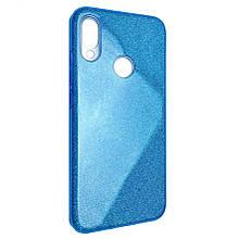 Чехол-накладка DK-Case силикон райский дождик пластик вставка для Xiaomi Redmi 7  (blue)