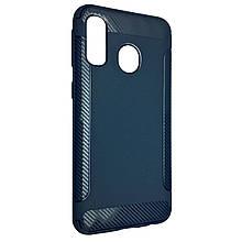 Чехол-накладка DK-Case силикон Carbon Soft Edge для Samsung A40 (dark blue)