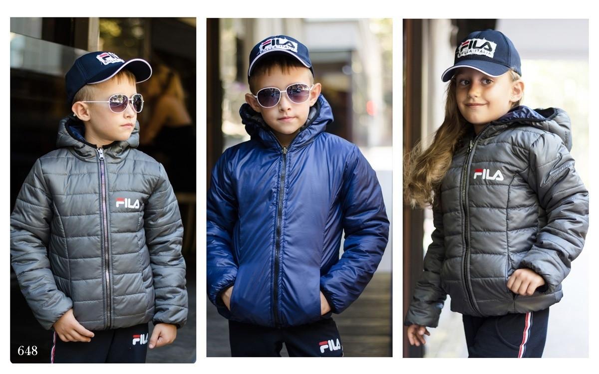 Куртка детская двухсторонняя плащевка+150 силикон 122-128,128-134,134-140,140-146,146-152