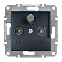 TV-R-SAT Розетка EPH3500371 проходная. (8dB) ASFORA Schneider Electric Антрацит