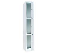 Ячеечные шкафы ШО-300/1-3 (3 ячейки 500х300хН600 мм), камера хранения для магазина Н1800х300х500 мм, фото 1