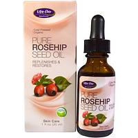 Натуральное косметическое масло шиповника Life-flo Pure Rosehip Seed Oil 30 мл