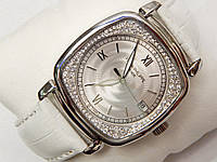 Женские механические наручные часы Patek Philippe на кожаном ремешке, фото 1