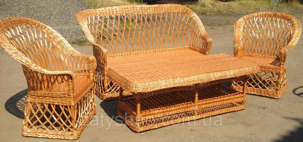 Плетеная мебель из лозы для дома и сада