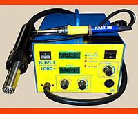 КМТ 1000+, паяльная установка для мастера радиоэлектроники, оснащена термо-феном, led-индикация/регулировка t°