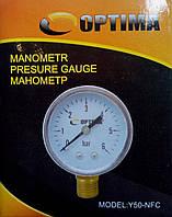 Манометр 6 атм. 50 мм Optima