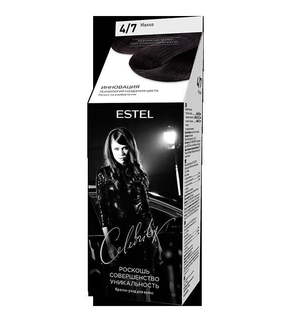 Краска-уход для волос ESTEL Celebrity (4/7) Мокко