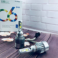 Светодиодные лампы Led C6 H4  5500 Лм, набор ксенон,биксенон