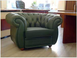 Кресло Cosmo-1S Кожа Люкс Комбинированная Зеленая (Диал ТМ), фото 2