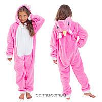 Теплая пижама Кигуруми Единорог для девочки 4-14 лет