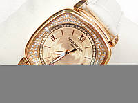 Женские механические наручные часы Patek Philippe на кожаном ремешке
