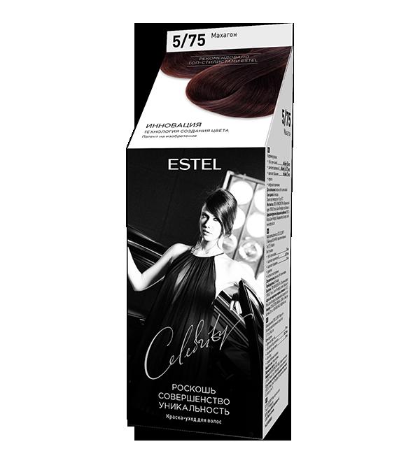 Краска-уход для волос ESTEL Celebrity (5/75) Махагон