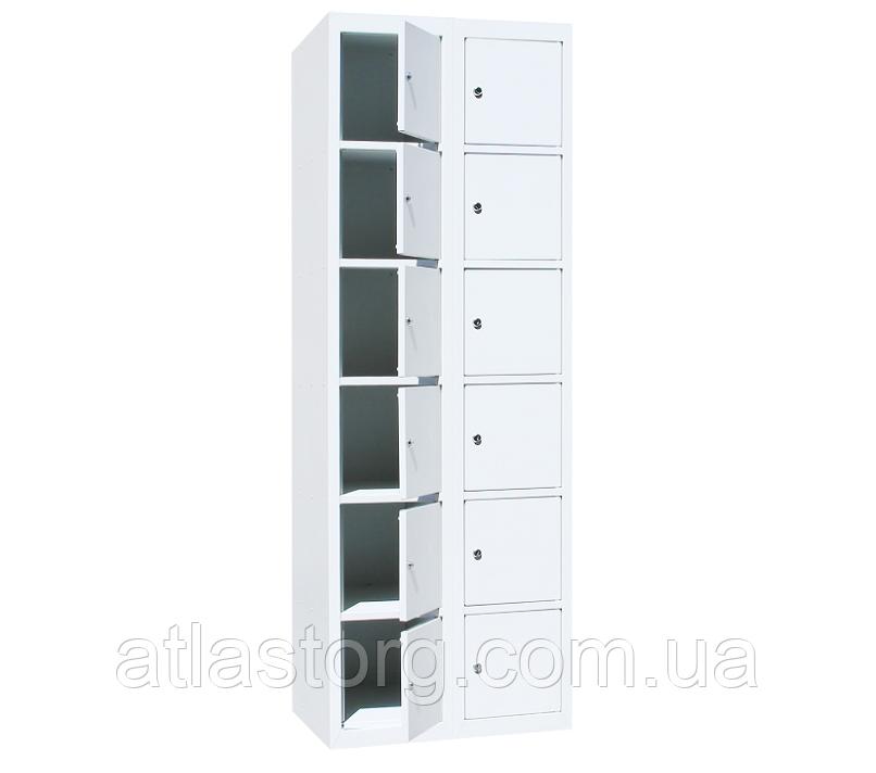 Ячеечные шкафы ШО-400/2-12 (12 ячеек 500х400хН300 мм), камеры хранения для магазина Н1800х800х500 мм