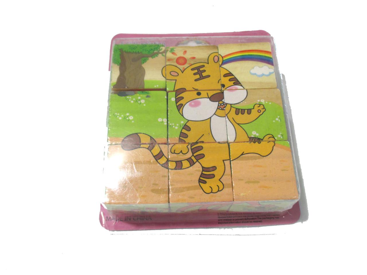 Кубики дерев'яні 9шт З 31528