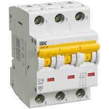 Автоматический выключатель ВА47-60 3P 16A 6кА х-ка C ИЭК