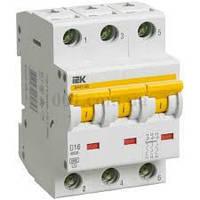 Автоматический выключатель ВА47-60 3P 16A 6кА х-ка C ИЭК, фото 1
