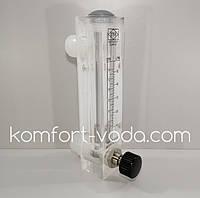 Ротаметр панельного типа LZM-25ZT (KT5), 10-50 л/мин (с регулятором потока), фото 1
