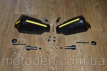 Защита рук мотоциклиста от ветра с креплением на руль 22мм (темная)