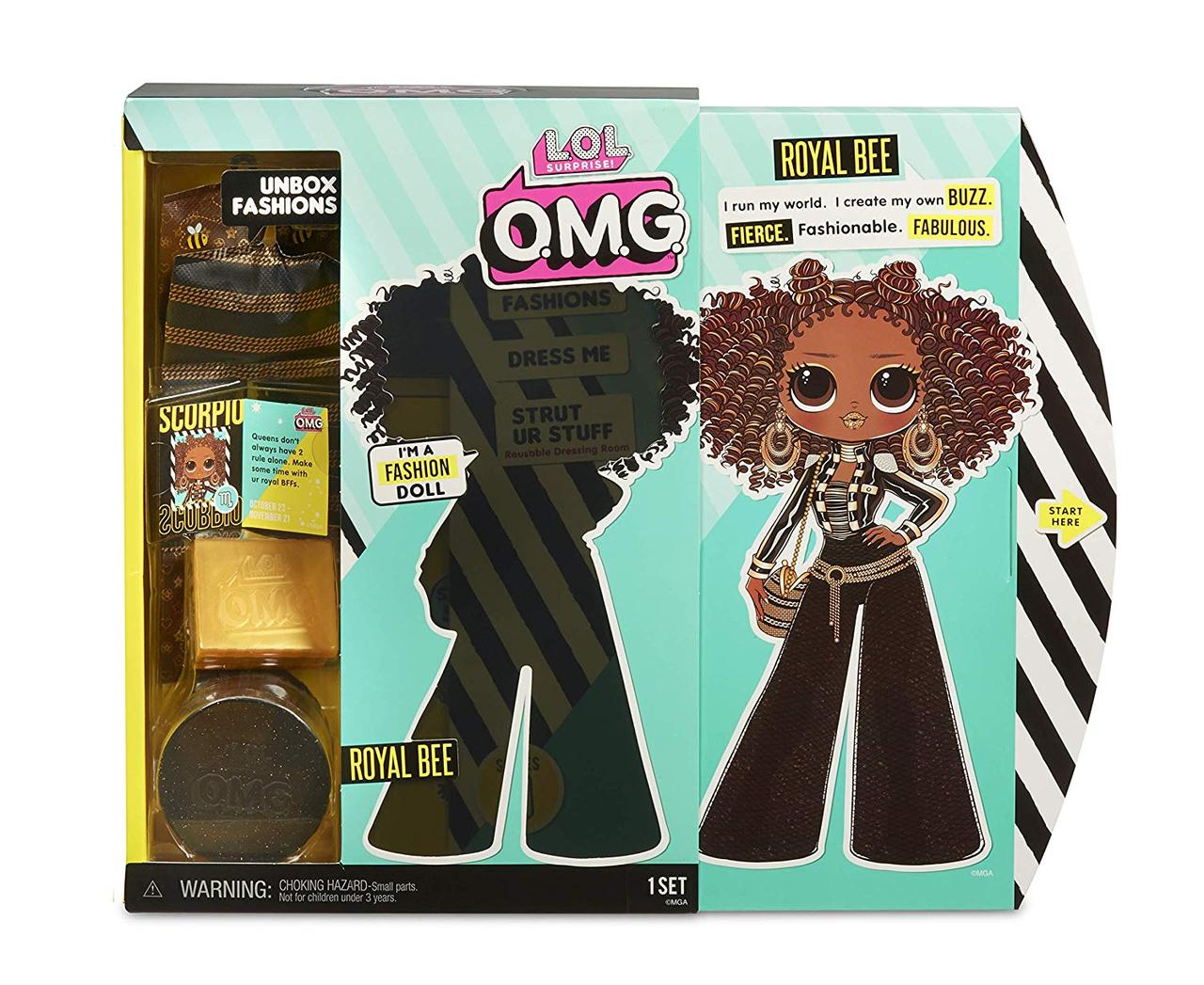 ЛОЛ O.M.G. Королева Пчелка / L.O.L. Surprise! O.M.G. Royal Bee Fashion Doll
