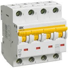 Автоматический выключатель ВА47-60 4P 10A 6кА х-ка C ИЭК